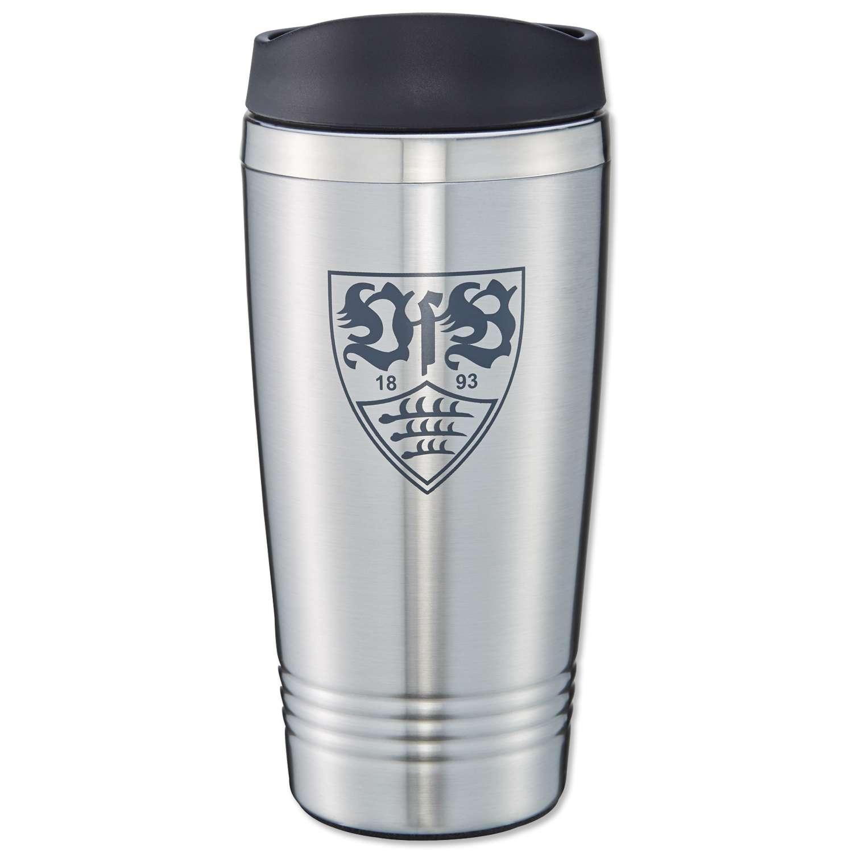 JAKO VfB Stuttgart Trinkflasche schwarz-Silber schwarz-Silber Standard
