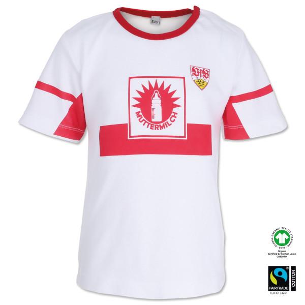 VfB Stuttgart GOTS Muttermilch Baby Retro T-Shirt