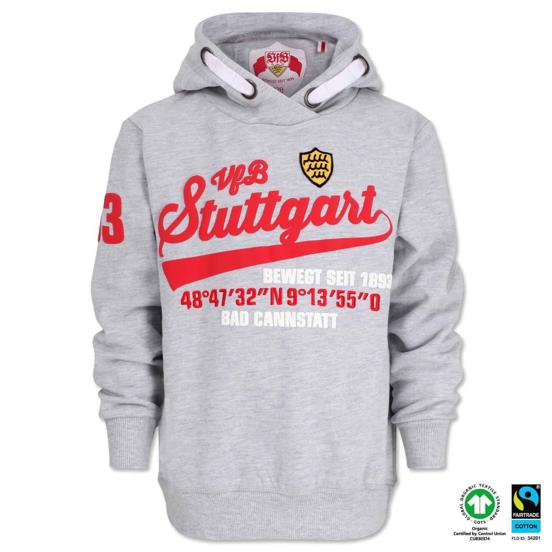 GOTS VfB Stuttgart Hoody Hoodie Sweater Kapuzenpulli